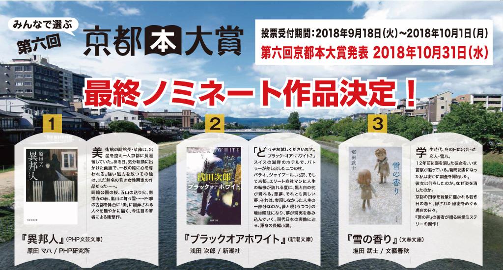 『京都本大賞』投票受付